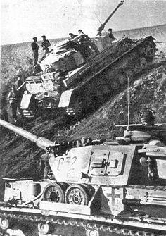 The battle of Kursk. German medium tanks Pz. Kpfw. IV Ausf G 11. Panzer-Division at Kursk. 1943