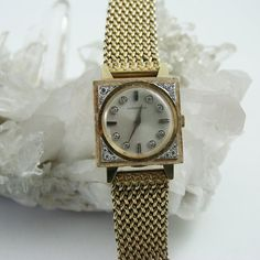 vintage 14k GOLD LONGINES mystery watch 1 ct by mad4modvintage, $2200.00