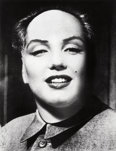 Philippe Halsman, Marilyn-Mao photomontage, ca. 1967-1972 - Philippe Halsman created this blending of the portraits of Marilyn Monroe and Chairman Mao, as requested by Salvador Dalí. Dalí used it for a modern surreal serigraph on paper titled 'Self-Portrait'.