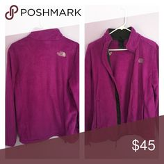 Berry colored northface jacket Warm, smooth fabric jacket that's a mixture of pink and purple color North Face Jackets & Coats Puffers