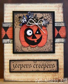 jack-o-lantern halloween card handmade