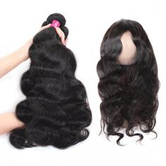 One More Indian Virgin Human Hair Body Wave Weave Hair 3 or 4 Bundles With 360 Frontal,Indian Virgin Weft Body Wave Weave Virgin Remy Hair Extensions #indianhair #360frontal