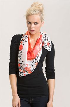 Collection XIIX 'Poppy Dot' Square Scarf