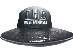 BLACK & BLACK ALLIGATOR BRIM SNAPBACK HAT WITH THC EMBROIDERED
