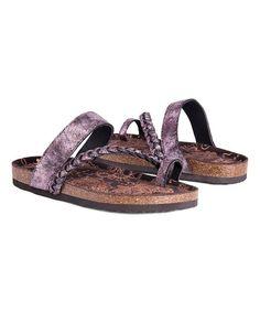 MUK LUKS Purple Keia Sandal | zulily