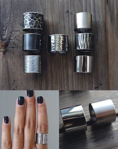 choose a texture / 1.5cm tube ring / wide band ring / adjustable band ring / cuff rings / stainless steel ring / stainless steel jewelry