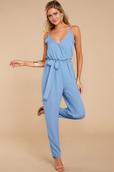 d56340c2787b Trendy Blue Jumpsuit - Chic Jumpsuit - Jumpsuit - 52.00 – Red Dress Boutique  Blue Jumpsuits