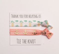 A personal favorite from my Etsy shop https://www.etsy.com/listing/275632346/bridesmaid-hair-tie-favorpineapple-peach