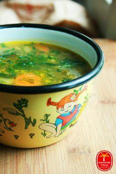 Zupa z kalarepy Slow Food, Soups And Stews, Food And Drink, Menu, Tasty, Vegan, Dishes, Baking, Ethnic Recipes