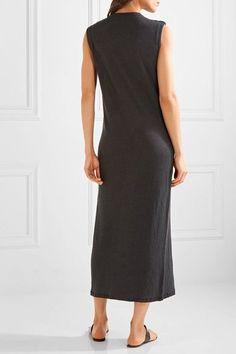 IRO - Lace-up Linen Midi Dress - Black