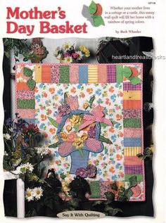 Quilt Shop Class Project ~ 10 ~ Mother's Day Basket Wall Quilt Pattern #Unbranded