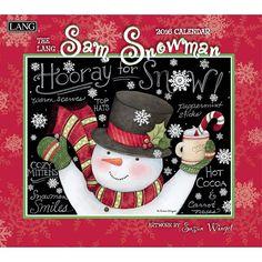 Susan Winget Sam Snowman 2016 Wall Calendar