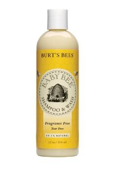 Burts Bees Baby Bee Fragrance Tear Free Shampoo  Wash, 12-Ounce Bottles (Pack of 3) - Cleanse baby's delicate skin and hair with this fragrance-free, hypo-allergenic wash. Our tear-free, non-irritating formula is clinically proven to be safe,
