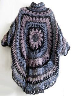 interesting giant granny square sweater
