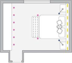 Iluminação de quatro quartos com recursos que permitem conforto e relaxamento