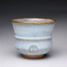 handmade ceramic cup tumbler yunomi teacup with orange