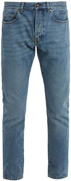 SAINT LAURENT Slim-leg logo-embroidered jeans Embroidered Jeans, Slim Jeans, Distressed Jeans, Saint Laurent, Legs, Balenciaga, Stuff To Buy, Fashion, Ripped Denim Jeans