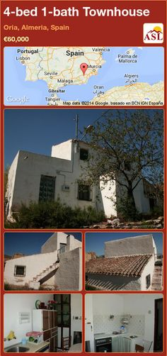 Townhouse for Sale in Oria, Almeria, Spain with 4 bedrooms, 1 bathroom - A Spanish Life Murcia, Valencia, External Staircase, Portugal, Small Terrace, Open Fireplace, Semi Detached, Rustic Kitchen, Townhouse
