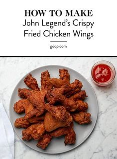 John Legend obviously knows what he's doing in the kitchen because this crispy fried chicken wings recipe with spicy honey butter is crazy good. Fried Chicken Sauce, Crispy Fried Chicken Wings, Air Fryer Fried Chicken, Making Fried Chicken, John Legend Fried Chicken Recipe, Best Fried Chicken Recipe, Chicken Tender Recipes, Chicken Wing Recipes, Chicken Meals