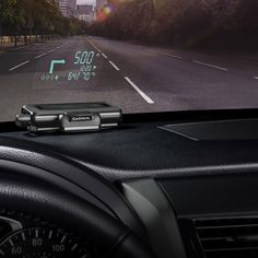 Garmin's Portable Head-Up Display Adds a High-Tech Touch to Cars. You may have given up on dedicated GPS devices and switched to your smartphone. The smartphone is not entirely intuitive, and you probably need to look away from your driving from time to time, which is dangerous. Garmin's new device gives you real time directions on your windshield.