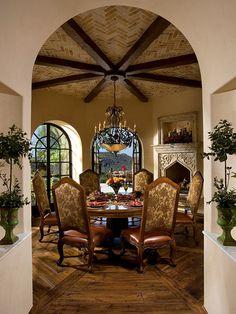 Italian Mediterranean Garden Villa - mediterranean - dining room - orlando - Terry L Irwin Architects