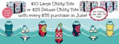 June Special spend $35 get a Deluxe Utility for $25 or Large Utility Tote for $10.   www.mythirtyone.com/lisaread