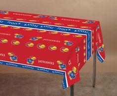 University of Kansas Plastic Table Covers