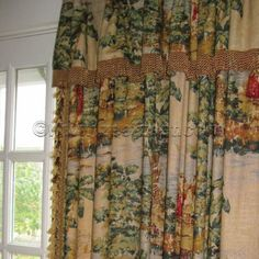 Covington BOSPORUS Antique Red Printed Drapery Weight Home Dec Fabric in Collectibles, Linens & Textiles Curtains & Drapes French Style Homes, Living Room Green, Fall Home Decor, New Homes, French Country Fabric, Curtains Window Treatments, Vintage Living Room, Curtain Decor, Window Treatments
