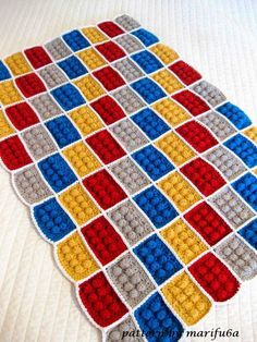Free crochet patterns and video tutorials: how to crochet lego blanket free pattern tutorial