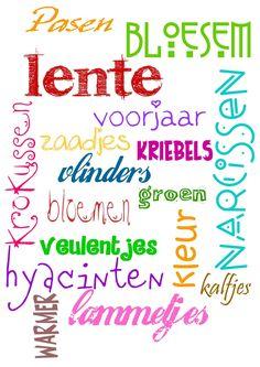 Lente = bloesem-Pasen-krokussen-vlinders-zaadjes-groen-lammetjes en nog veel meer