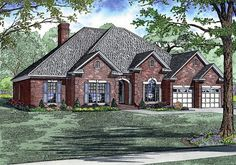 Elevation of Traditional   House Plan 61271