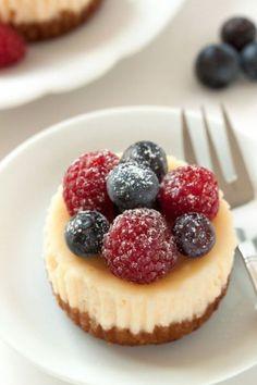 Gluten-Free Mini Cheesecakes from My Baking Addiction