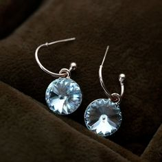cheerful icy blue drop earring