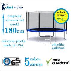 Trampolína JUSTJUMP 374 cm za 138,-€   rebrík   ochranná sieť