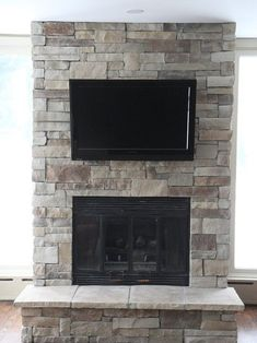 Dry stacked stone fireplace design by dennis in 2018 - Ideas to cover fireplace opening ...