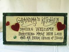 Kitchen Signs Grandma Signs Wood Signs by DivineRusticCreation, $15.95