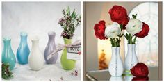 DIY wedding centerpieces: glitz up plain vases for a memorable presentation