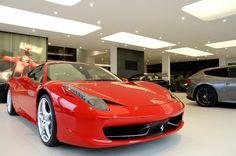 JCT 600 Ferrari and Maserati Showroom - High Technology Lighting Project - Car Showroom Lighting