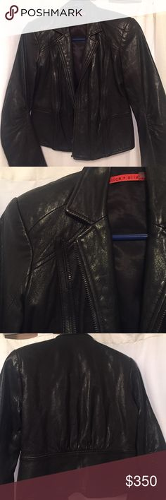 Alice & Olivia leather jacket Soft real black leather authentic Alice & Olivia jacket. Cropped. Fits snug and looks super cute with a cute dress or jeans. Bought this 3 seasons ago and wore only a handful of times. In amazing condition. Alice + Olivia Jackets & Coats