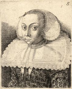 "Wenceslas Hollar, 1636 ""Woman with a bodkin in her hair"""