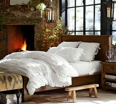 Hadley Ruched Duvet Cover & Sham - White | Pottery Barn for guest room possibly