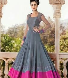 Buy Latest Salwar Kameez Designs Salwar Kameez online in India at best price.mpress everyone around with your simplicity and elegance wearing this grey color anarkali suit set out Churidar, Anarkali Dress, Lehenga, Long Anarkali, Anarkali Suits, Punjabi Suits, Indian Designer Outfits, Designer Dresses, Indian Dresses