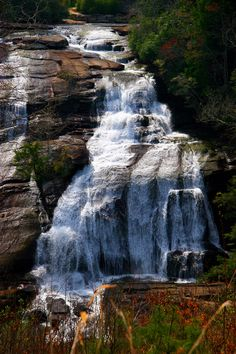 High Falls, NC. Love waterfalls, we had our honeymoon in Brevard, NC land of the waterfalls.
