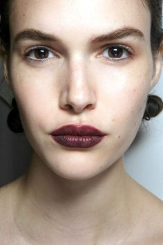 Burberry delivered the best lips of the season, if only because the intimidating oxblood shade turns out to magically work on every skin tone and hair color.