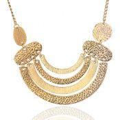 Fashion Geometric Shaped Gold Metal Necklace