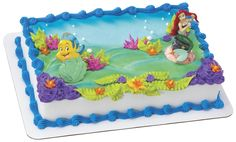 LITTLE MERMAID & FLOUNDER....Rissa had this cake last year