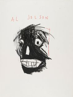 Jean-Michel Basquiat, Al Jolson, 1981, a drawing in the collection of the Brooklyn Museum.JONATHAN DORADO, BROOKLYN MUSEUM/©ESTATE OF JEAN-MICHEL BASQUIAT, ALL RIGHTS RESERVED, LICENSED BY ARTESTAR, NEW YORK/GIFT OF ESTELLE SCHWARTZ