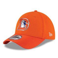 New Era Denver Broncos Orange Color Rush On Field 39THIRTY Flex Hat