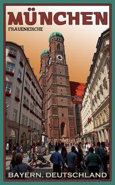 Munich, Germany _________________________ #Vintage #Travel #Poster