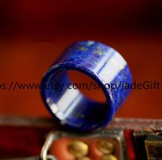 Free Shipping  natural lapis lazuli ring wedding ring by jadeGift, $69.99